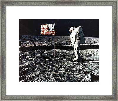 Moon Walk Framed Print by Retro Images Archive