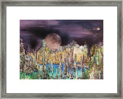 Moonhenge Framed Print by Kaye Miller-Dewing