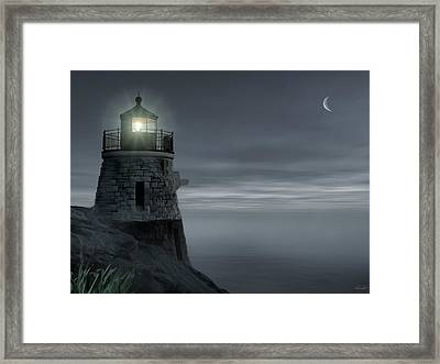 Moonlight At Castle Hill Framed Print by Lourry Legarde