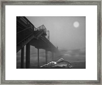 Moonlight Beach Framed Print by Larry Butterworth