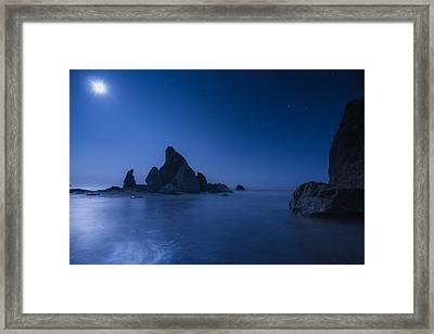 Moonlight Blue Framed Print by Gene Garnace