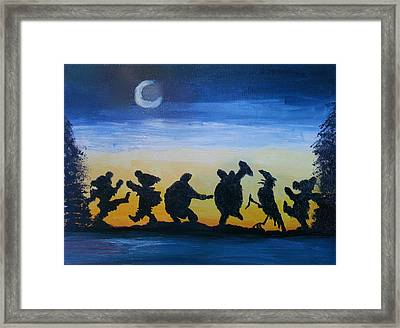 Moonlight Dance Framed Print by Barbara Cole
