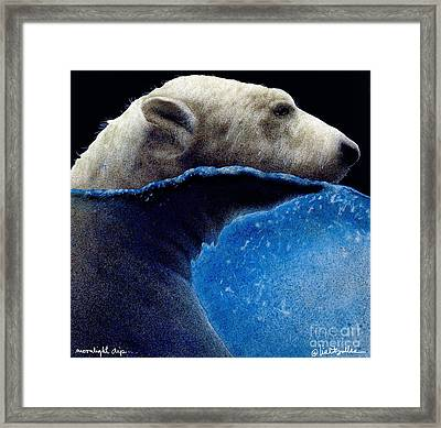 Moonlight Dip... Framed Print by Will Bullas