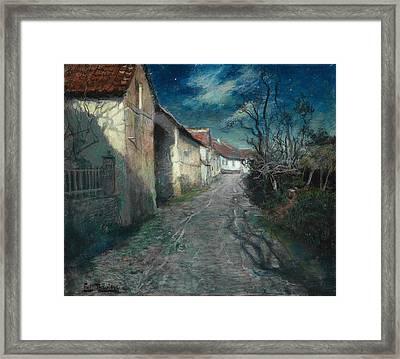Moonlight In Beaulieu Framed Print by Frits Thaulow