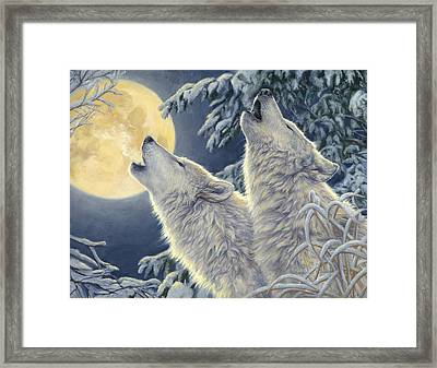 Moonlight Framed Print by Lucie Bilodeau