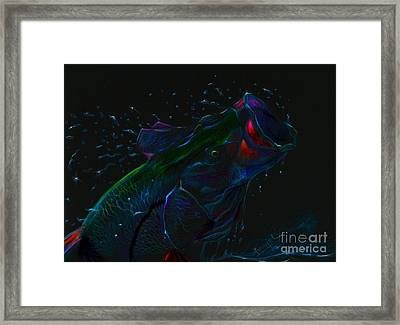 Moonlight Mouth  Framed Print by Yusniel Santos