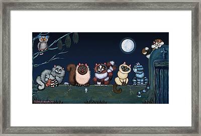 Moonlight On The Wall Framed Print by Victoria De Almeida