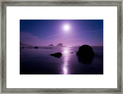 Moonlight Reflection Framed Print by Chad Dutson