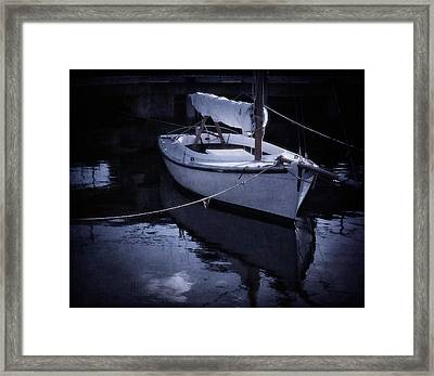 Moonlight Sail Framed Print by Amy Weiss