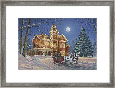 Moonlight Travelers Framed Print by Richard De Wolfe