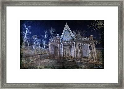 Moonlit Cape Cod Framed Print by Kylie Sabra
