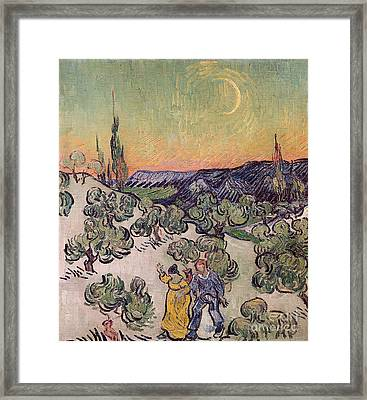 Moonlit Landscape Framed Print by Vincent Van Gogh