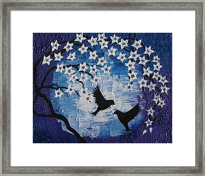 Moonlit Love Framed Print by Cathy Jacobs