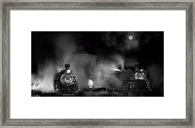 Moonlit Twins Framed Print by Ken Smith