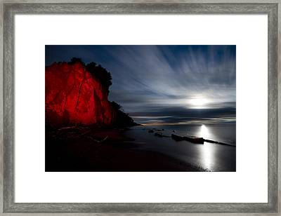 Moonrise At Clearville Beach Framed Print by Cale Best