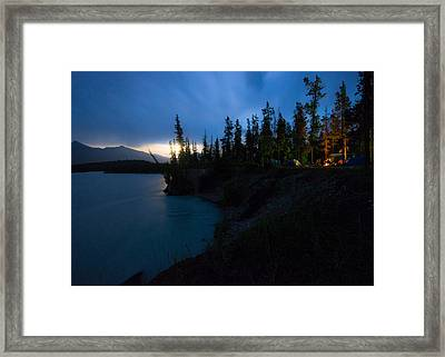 Moonrise At Wabasso Campground Framed Print by Cale Best