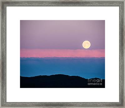 Moonrise Framed Print by Christina Klausen