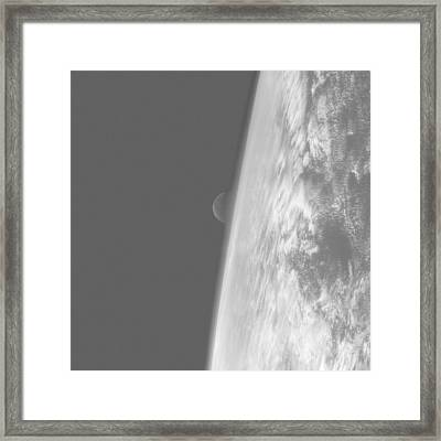Moonrise Over The Pacific Framed Print by European Space Agency