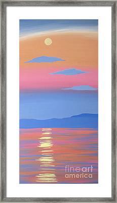 Moonshadow Framed Print by Melissa F Kaelin