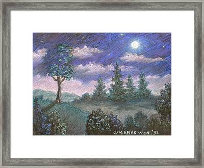 Moonshadow Framed Print by Michael Heikkinen