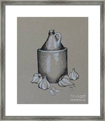 Moonshine And Garlic Framed Print by Catherine Howley