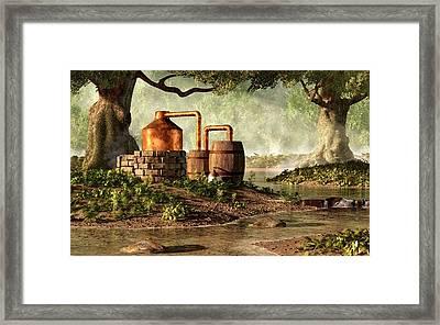 Moonshine Still 1 Framed Print by Daniel Eskridge