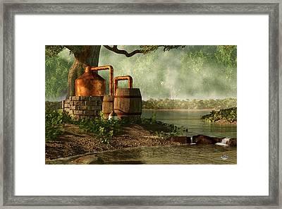Moonshine Still 3 Framed Print by Daniel Eskridge