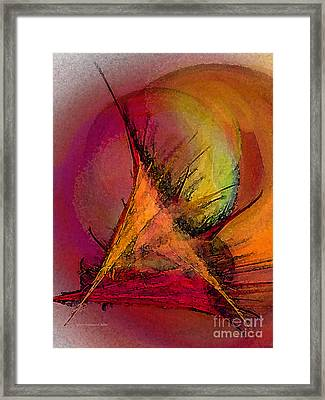 Moonstruck-abstract Art Framed Print by Karin Kuhlmann