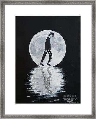 Moonwalker Framed Print by Artistic Indian Nurse