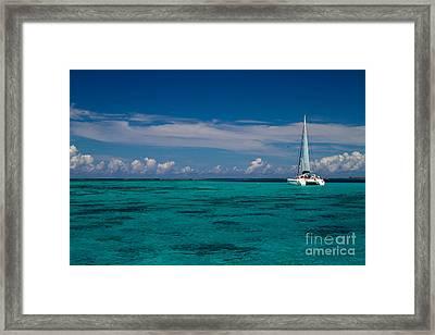Moorea Lagoon No 16 Framed Print by David Smith