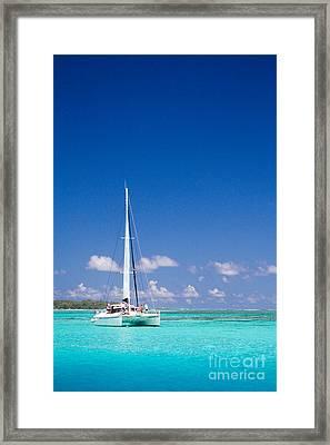 Moorea Lagoon No 4 Framed Print by David Smith