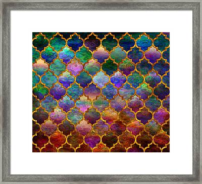 Moorish Mosaic Framed Print by Lilia D