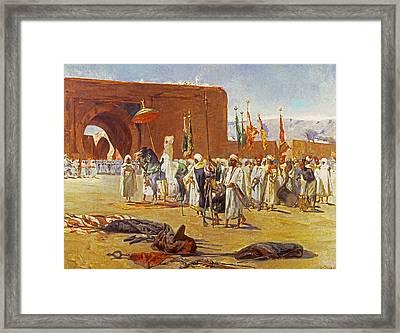 Moorish Procession Framed Print by Jean Joseph Benjamin Constant