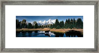 Moose & Beaver Pond Grand Teton Framed Print by Panoramic Images