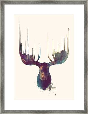 Moose Framed Print by Amy Hamilton
