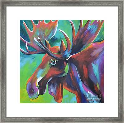 Moose Framed Print by Cher Devereaux