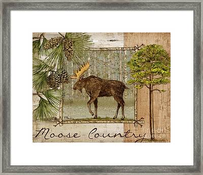 Moose Country Framed Print by Paul Brent