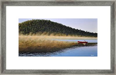 Moose Lake Paddle Framed Print by Kenneth M  Kirsch