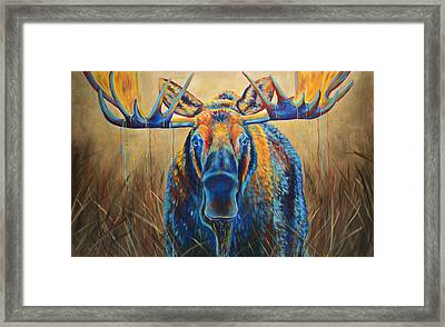 Moose Marsh Framed Print by Teshia Art