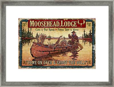 Moosehead Lodge Framed Print by JQ Licensing