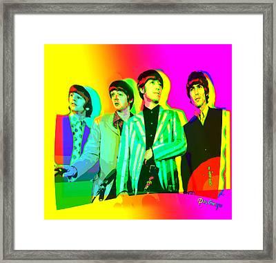 Moptops Pop '68 Beatles Framed Print by Del Gaizo