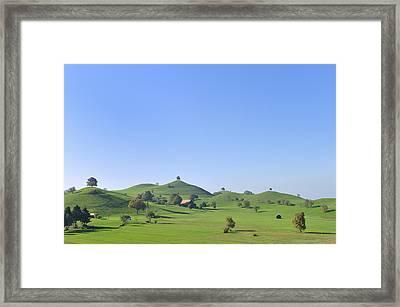 Moraine Hill Landscape Switzerland Framed Print by Thomas Marent