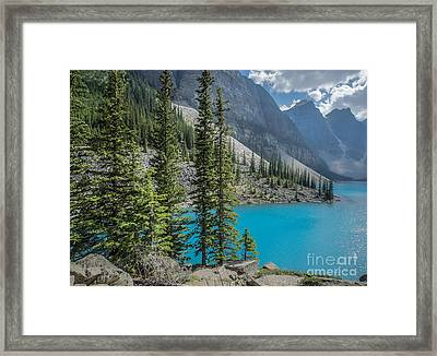 Moraine Lake Banff National Park Canada Framed Print by Edward Fielding
