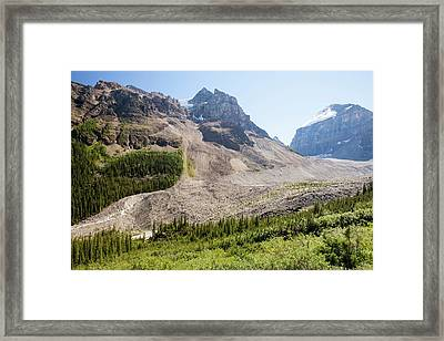 Moraine Receding From Victoria Glacier Framed Print by Ashley Cooper