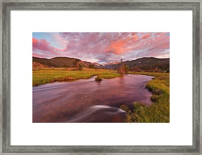Moraine Sunrise Framed Print by Darren  White