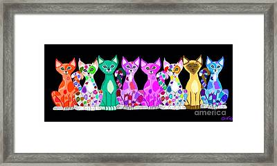 More Colorful Kitties Framed Print by Nick Gustafson