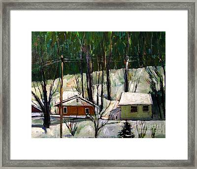 More Snow Tonight Framed Print by Charlie Spear