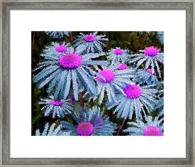 More Than Miles Green Teal Pink Framed Print by Holley Jacobs