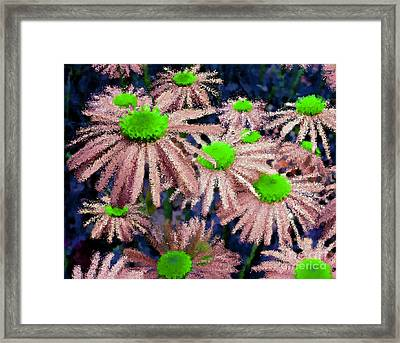 More Thank Miles Blue Pink Neon Green Framed Print by Holley Jacobs