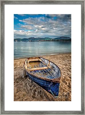 Morfa Nefyn Boat Framed Print by Adrian Evans